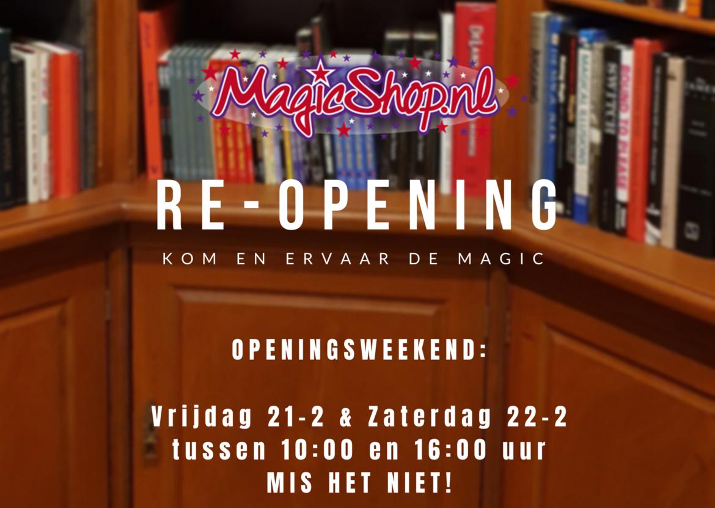 Magicshop gaat weer open
