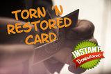 Torn 'n Restored card
