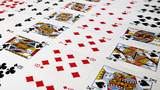 Bicycle Poker Cards Uncut Sheets (Red)