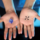 Transparent Forcing Dice BLAUW by Chris Wu