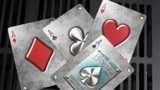 Bicycle Metal Rider Back Playing Cards (Blue)