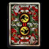 Dit zijn de officiele Jurassic Park speelkaarten! Wow... het doosje is waanzinnig gaaf. De achterkant is laser cut uitgesneden,