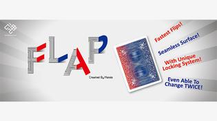 Modern flap card blauw - groen - rood - Hondo