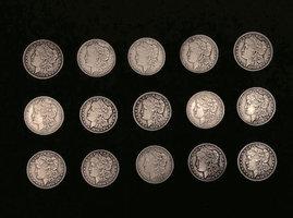 Exploded coins - Morgan Replica