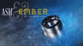 Sale-item: Ash and Ember Silver Beveled Size 12 (2 Rings) by Zach Heath  - Trick
