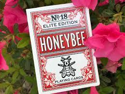 Honeybee Elite Red playing cards