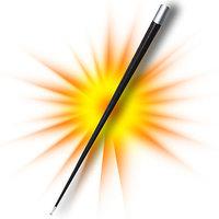 Appearing cane metaal, zwart
