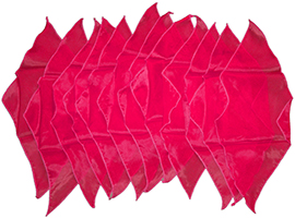 Diamond cut doek rood groot