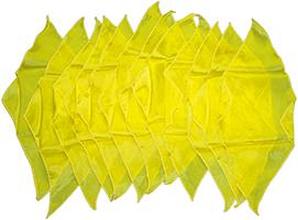 Diamond cut doek geel groot