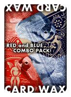 Card wax combo (rood en blauw)