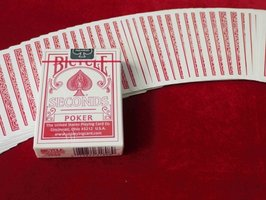 Bicycle rider poker red SECONDS