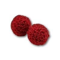 Chop balletjes handknit rood 25 mm 1 inch (set van 2)