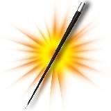Appearing cane zwart plastic