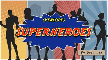 Svenlopes SUPERHEROES (4 x 6 Black) by Sven Lee