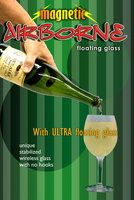 Airborne champagne bottle magnetic