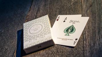 At the Table speelkaarten (groen)