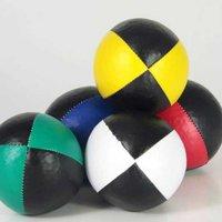 Jongleerbal Thuds 120 gr zwart + kleur