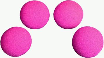 Sponsballen SS 1,5 inch roze ultrasoft