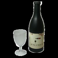 Airborne electronic wijn + glas