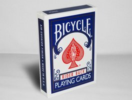 Bicycle rider back poker blauw