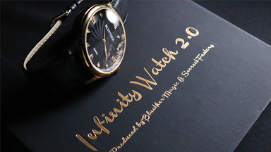 Infinity Watch V2 Gold Case Black Dial by Bluether Magic