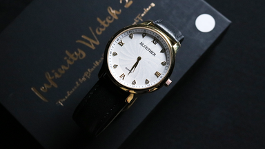 Infinity Watch V2 Gold Case White Dial by Bluether Magic