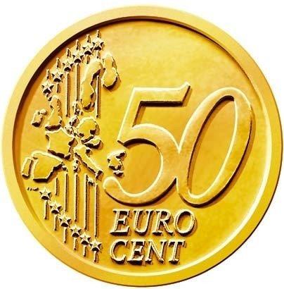 50 eurocent, steel core