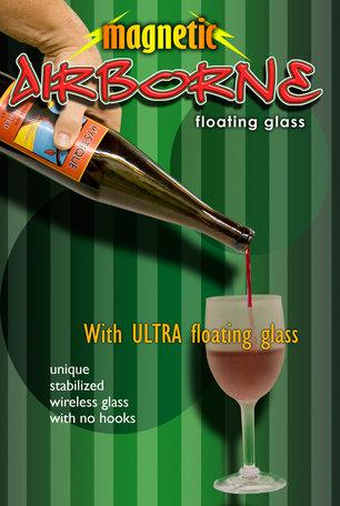 Airborne wine bottle magnetic