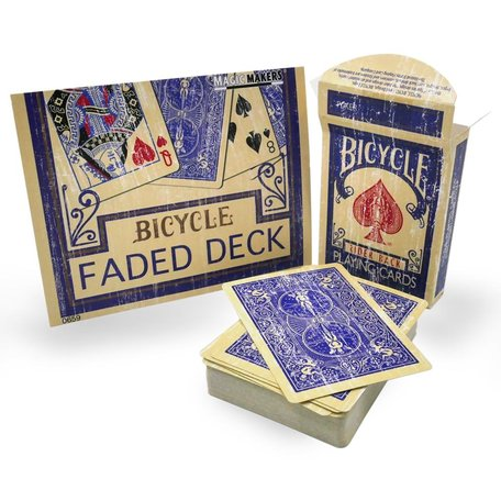 Bicycle faded deck blauw