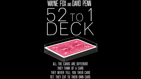 The 52 to 1 Deck rood (Gimmicks and Online Instructions)