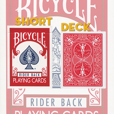 Bicycle short deck rood