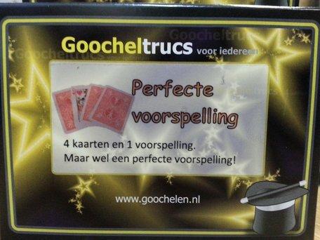 Perfecte voorspelling - goochelen.nl