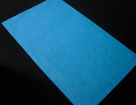 flash paper blauw