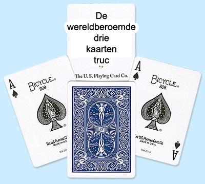 De 3 kaarten truc