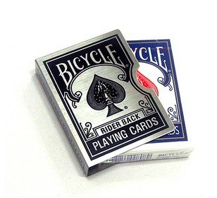 Bicycle card guard clip zwart