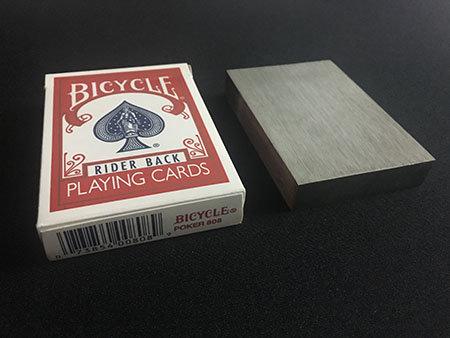 Knife thru block - Kaart door blok