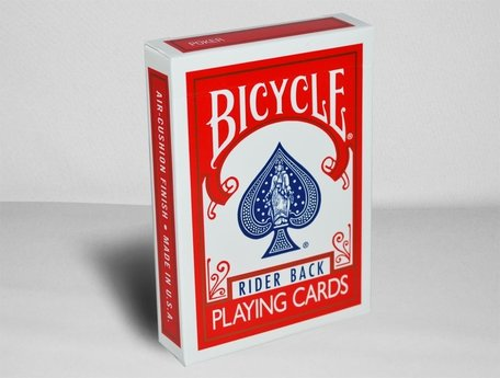 Bicycle rider back poker rood