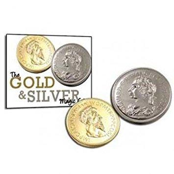 Goud en zilver munten truc