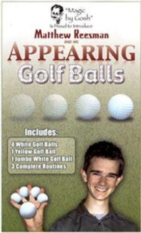 Appearing golf balls
