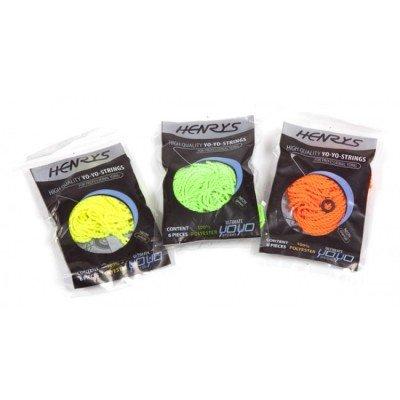 Henrys yo-yo string neon 6 pcs
