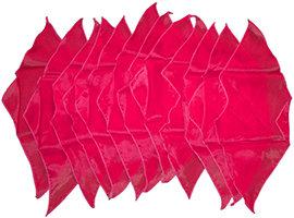 Diamond cut doek rood groot