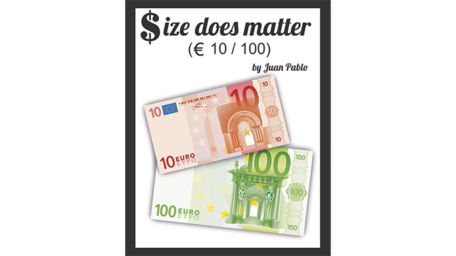 Size Does Matter EURO 10 to 100 by Juan Pablo Magic