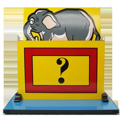 Back Stage vanishing Elephant