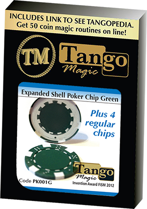 Expanded shell poker chips groen