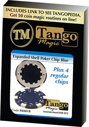 Expanded shell poker chips blauw