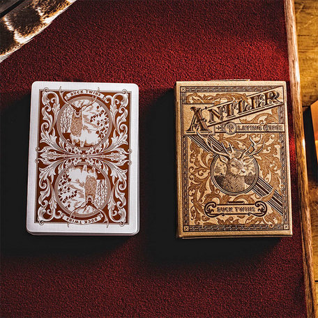 Antler Playing Cards (Tobacco Brown) by Dan and Dave