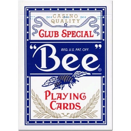 Bee cards poker blauw