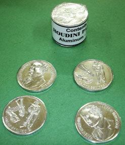Houdini palmeer munten