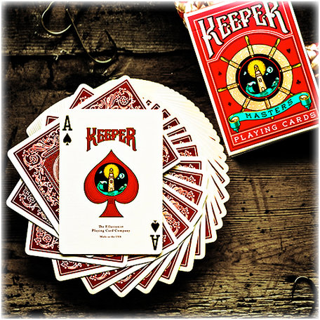 Keeper Speelkaarten rood