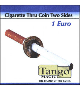 Cigarette Through 1 Euro dubbelzijdig